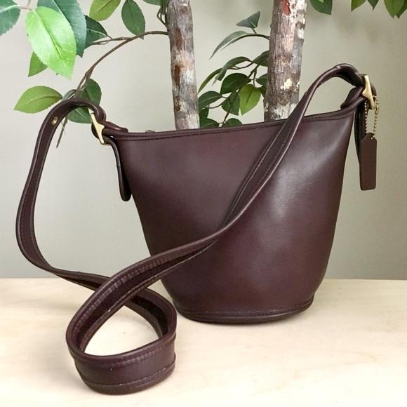 Coach Handbags - Vintage Coach 9019 Brown Crossbody Hobo Bucket Bag
